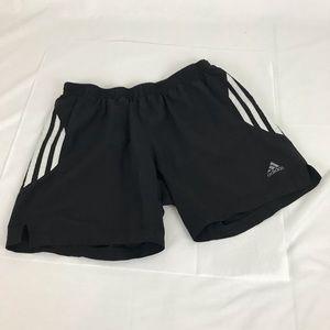 Adidas Black/White stripe Climacool Shorts